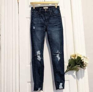Madewell High Rise Skinny Jeans Distressed 27 Tall